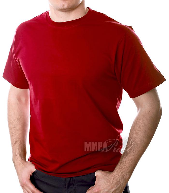 Футболка для печати мужская, бордо