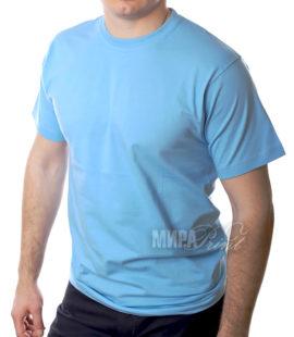 Футболка для печати мужская, голубая