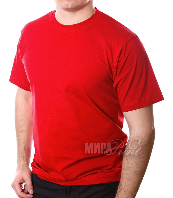 Футболка для печати мужская, красная
