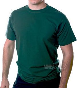 Футболка для печати мужская, темно-зеленая