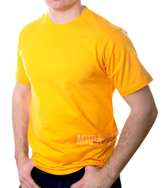 Футболка для печати мужская, желтая