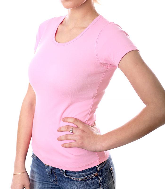Футболка для печати женская, розовая