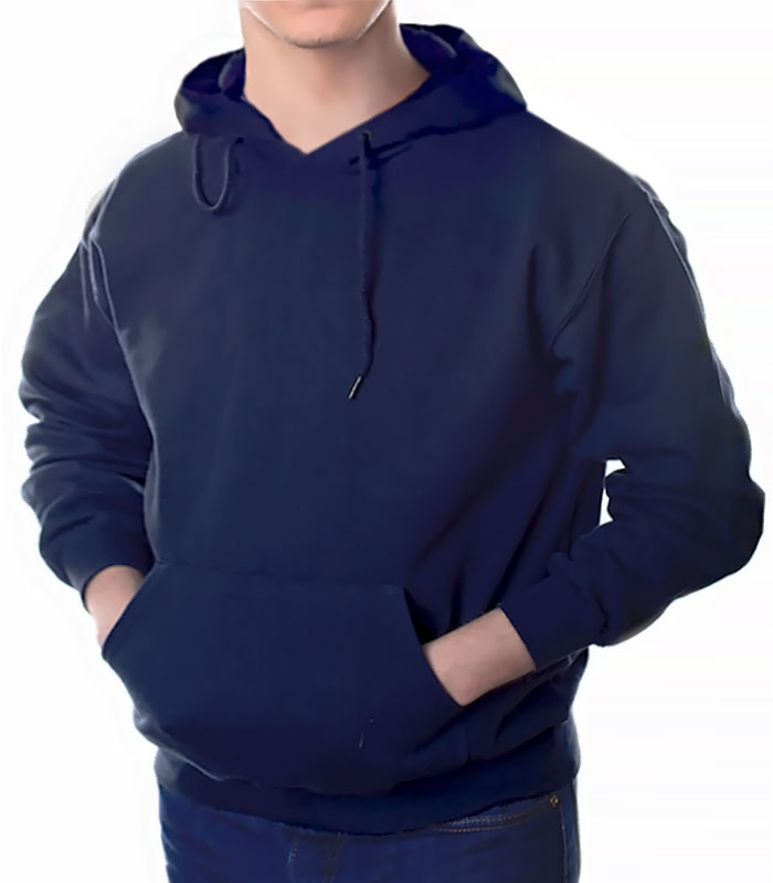 Толстовка с капюшоном для печати, темно-синяя