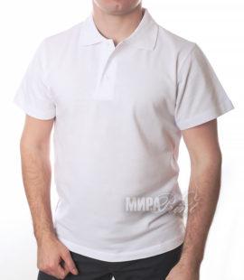 Мужское поло для печати, белое