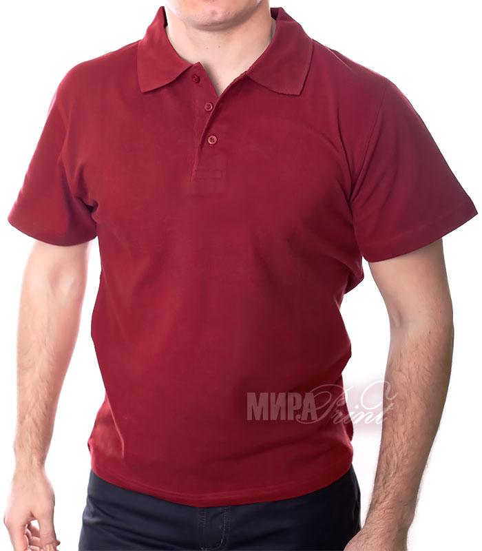 Мужское поло для печати, бордо