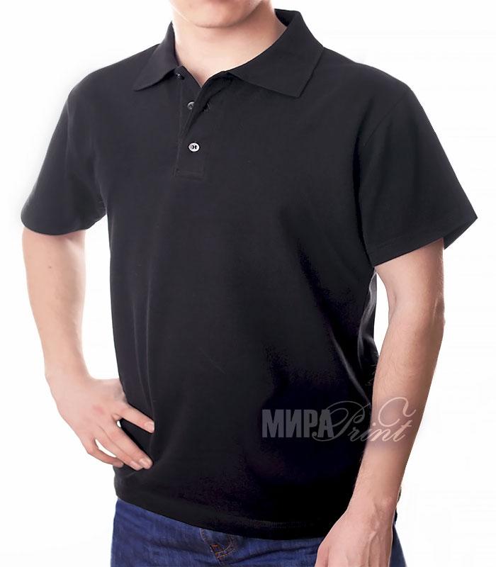 Мужское поло для печати, черное