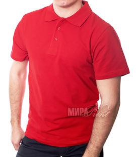Мужское поло для печати, красное