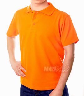 Мужское поло для печати, оранж
