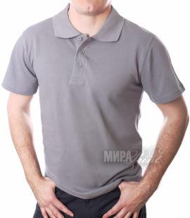 Мужское поло для печати, серое