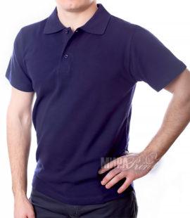 Мужское поло для печати, синее, синее