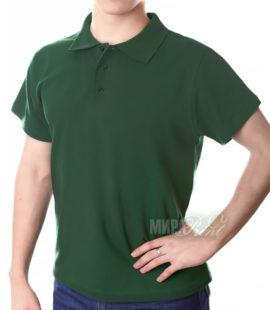 Мужское поло для печати, темно-зеленое