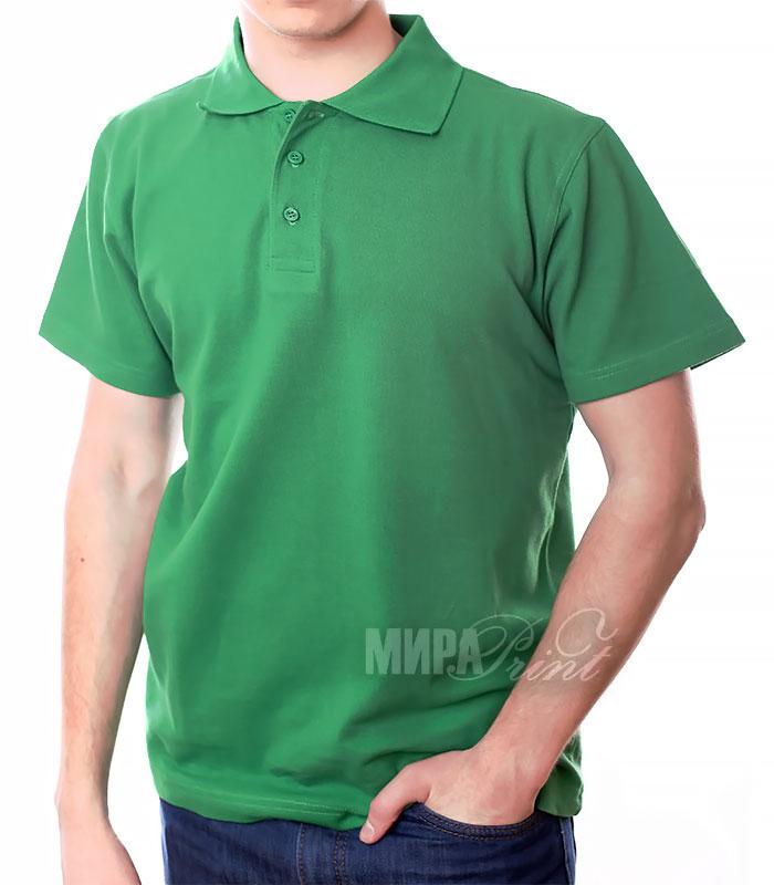 Мужское поло для печати, зеленое