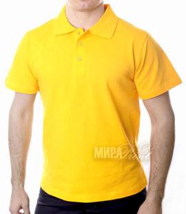 Мужское поло для печати, желтое