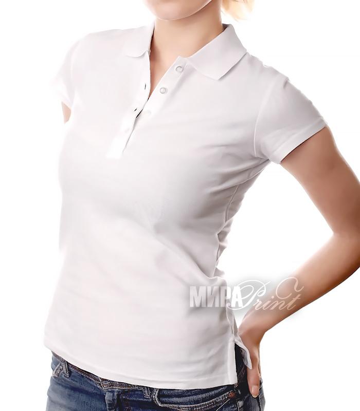 Женское поло для печати, белое