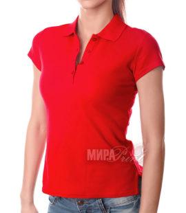 Женское поло для печати, красное