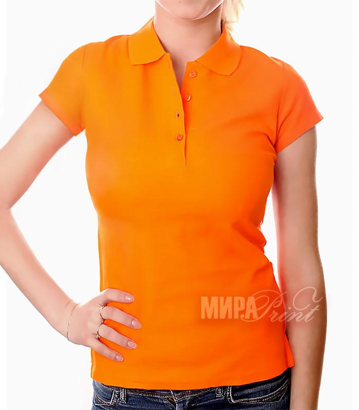 Женское поло для печати, оранж