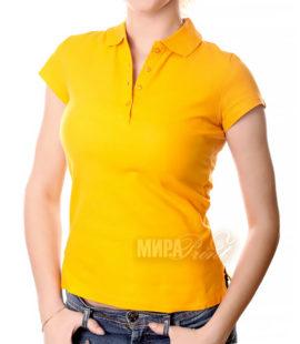 Женское поло для печати, желтое