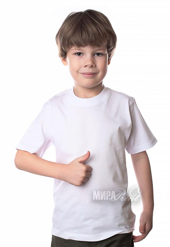 Детская футболка для печати, белая