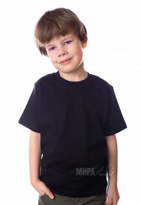 Детская футболка для печати, черная