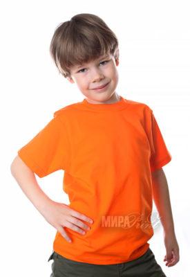 Детская футболка для печати, оранж