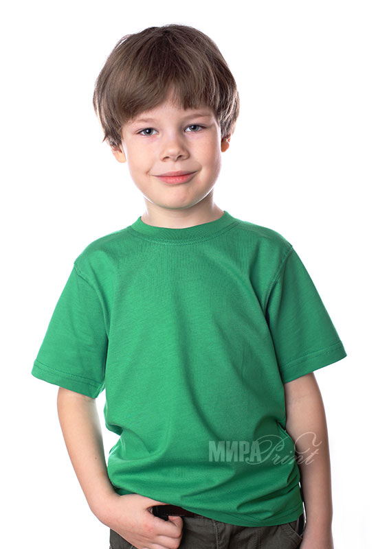Детская футболка для печати, зеленая