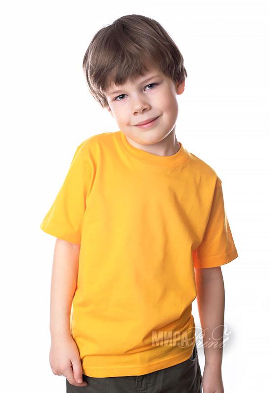Детская футболка для печати, желтая