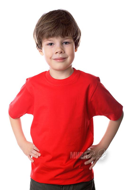 Детская футболка для печати, красная