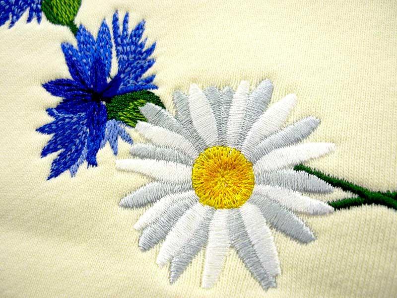 Вышивка на ткани